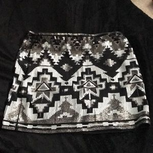 Aztec sequined skirt from Express